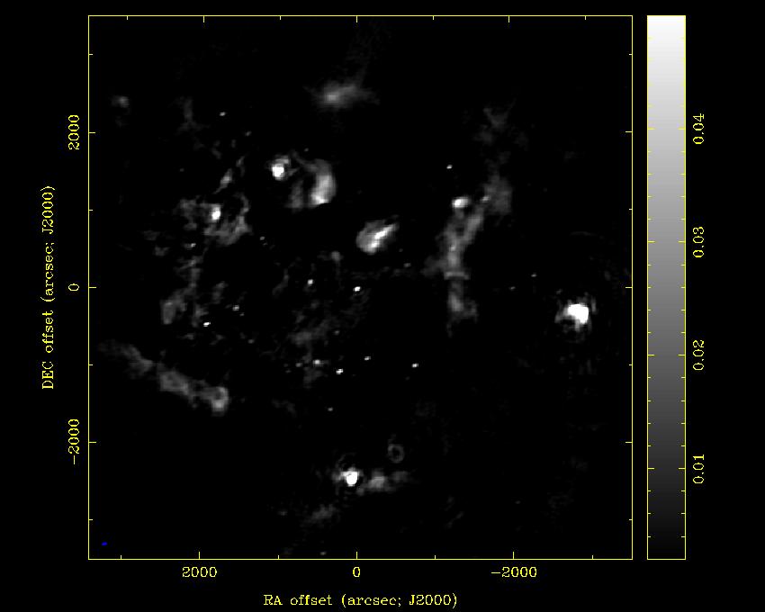 An ATA continuum map of the Cygnus X-3 region (3.14 GHz, 80 MHz BW).